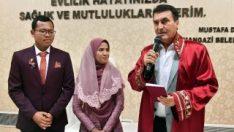 Endonezyalı çift Bursa'da nikah kıydı