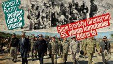 Erenköy Direnişi'nin yıl dönümünde komutanlar Kıbrıs'ta