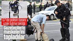 G7 Zirvesi'nde polis, gazetecilerin gaz maskelerini topladı