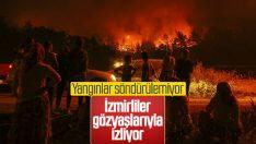 İzmir'deki orman yangını giderek yayılıyor