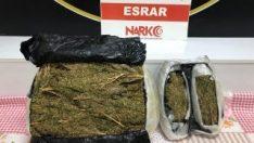 Kahramanmaraş'ta polisten kaçan arabadan uyuşturucu çıktı