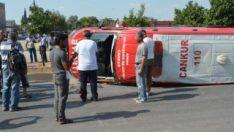 Kazaya giden CANKUR ekibi kaza yaptı