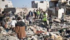 Koalisyon uçakları Yemen'de bir evi vurdu: 9 ölü
