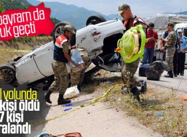Kurban Bayram'ı tatili yolunda kaza bilançosu