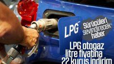 LPG otogaz litre fiyatına indirim