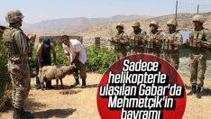 Mehmetçiğin Küpeli Dağı'nda bayram mesaisi