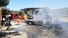 Muğla'da araç ve çeyiz eşyaları cayır cayır yandı