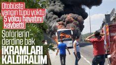 Otobüsçüler yangına karşı 'sıcak ikramı kaldıralım' dedi