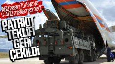 Patriot teklifi ABD tarafından geri çekildi