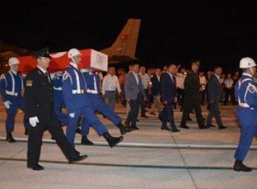 Şehit İdris Gezer'in cenazesi memleketi Sinop'ta