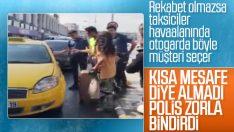 Taksicilerin Esenler Otogarı'nda yolcu seçmesi