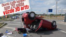Türkiye'de ölümlü trafik kazaları arttı