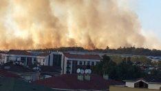 Tuzla Piyade Okulu'nun atış alanında yangın
