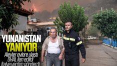 Yunanistan'daki orman yangını sürüyor: 8 yaralı