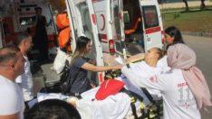 Adana'da ambulans kaza yapınca tekrar hastanelik oldu