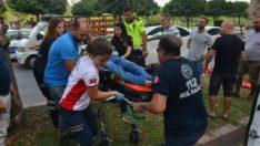 Adana'da kazazede kriko ile kurtarıldı