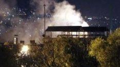 Ankara'da traktör fabrikasında yangın