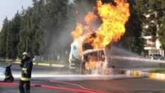 Antalya'da LPG tankerinde yangın
