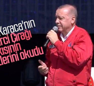 Cumhurbaşkanı 'Tamirci Çırağı' şarkısının sözlerini okudu
