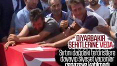 Diyarbakır saldırısında şehit düşenlere veda