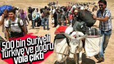 Esad bombaladı Suriyeliler Türkiye'ye yöneldi
