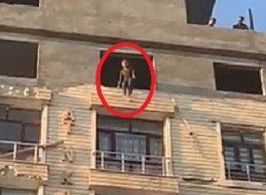 Genç kız, 6. kattan aşağı atladı