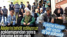 HDP binasının önünde eylem yapan aileler koruma altında