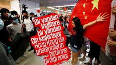 Hong Kong'da protestocular ile Çin yanlıları kavga etti