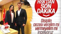 HSK Kıvanç Tatlıtuğ'la fotoğraf çektiren hakimi inceliyor