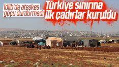 İdlib'ten Türkiye sınırına göç