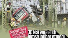 Japonya'da banliyö treni ile kamyon çarpıştı: 1 ölü