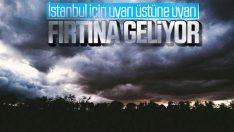 Marmara'ya kuvvetli fırtına uyarısı