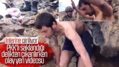 Van'da saklandığı mağaradan çıkarılan PKK'lı terörist