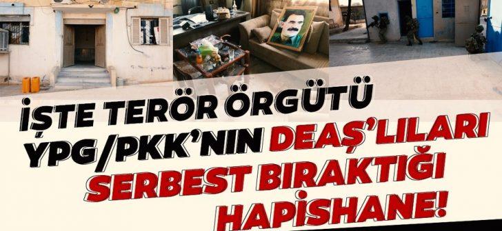 YPG, DEAŞ'lı teröristleri serbest bıraktığıı hapishanenin görüntüleri ortaya çıktı!