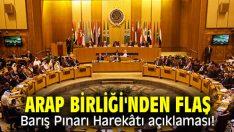 Arap Birliği'nden Barış Pınarı Harekâtı açıklaması!