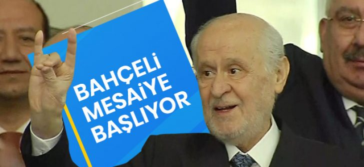 MHP lideri Devlet Bahçeli, tedavisinin ardından MHP Genel Merkezi'ne geldi