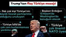 Son Dakika: Trump'tan kritik Türkiye mesajı!