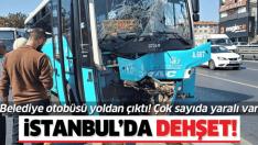 Avcılar'da halk otobüsü kaldırıma çıktı!