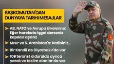 Başkomutan Erdoğan'dan dünyaya tarihi mesajlar: Harekata işgal derseniz kapıları açarız
