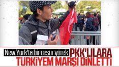 ABD'deki PKK'lılara 'Ölürüm Türkiyem' dinleten Türk