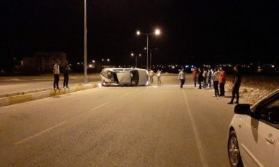 Adıyaman'da otomobil takla attı: 6 yaralı