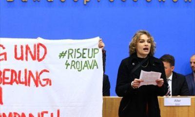 Almanya'da PKK yandaşları basın toplantısını bastı