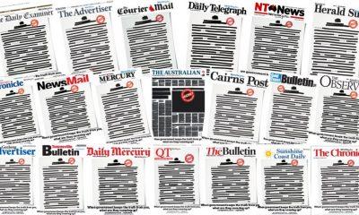 Avustralya'da gazeteler ilk sayfalarını kararttı