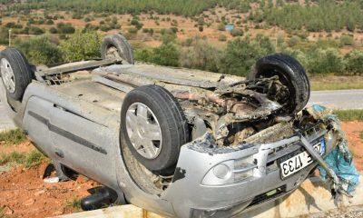Aydın'daki trafik kazasında emniyet kemeri hayat kurtardı