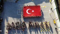 Esenyurt Prof.Dr.Ömer Dinçer ilkokulu öğrencilerinden Mehmetçiğe destek