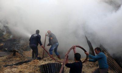 Bayburt'ta çıkan yangında 7 ev ve 2 ahır kül oldu
