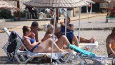 Bodrum'da plajlar tıklım tıklım