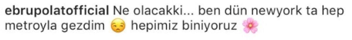 Ebru Polat, metroya binen Selda Bağcan'a cevap verdi