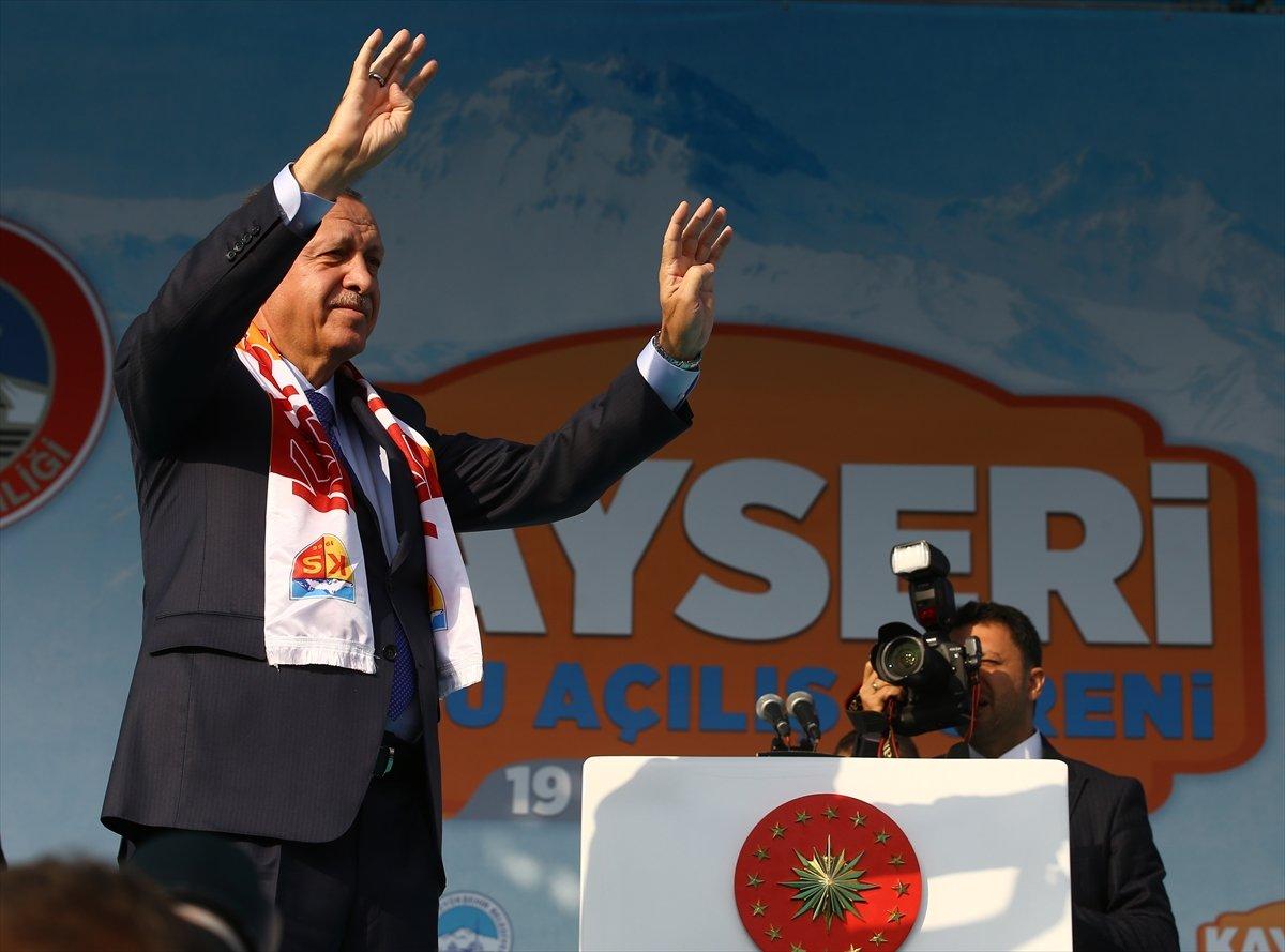 Erdoğan Kayseri Toplu Açılış Töreni'nde