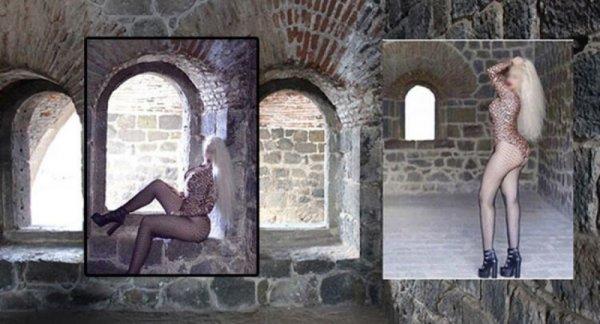 Erzurum'da tarihi yapıda mayolu fotoğrafa gözaltı